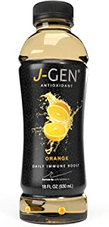 J-GEN ORANGE: ANTIOXIDANT-INFUSED DRINK by Julio Iglesias Jr. - Healthy and Refreshing - Helps fight aging - Essential Minerals and Vitamins - Contains Electrolytes - 11 FL OZ BOTTLE - 12 Pack
