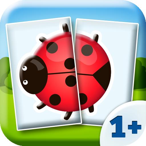 Animaux - Jeux bebe - Puzzle avec 2 pièces (1+)