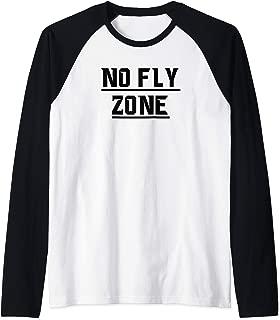 No Fly Zone Football Defense TShirt Raglan Baseball Tee