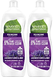 Seventh Generation Plant-based Dishwashing Liquid Lavender & Mint, 750ml (Pack of 2)