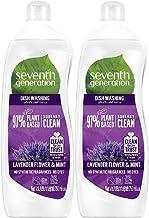 Seventh Generation Plant-based Dishwashing Liquid Lavender & Mint, 750ml (Pack of 2)