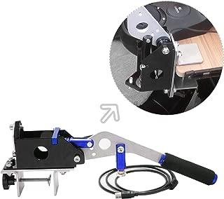 USB Handbrake + Clamp PC Windows for Sim Racing Games G25 G27 G29 T500 FANATECOSW Dirt Rally(Blue + Clamp)