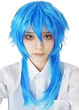 ROLECOS Dramatical Murder Seragaki Aoba Long Straight Cosplay Wig Blue Blend Green