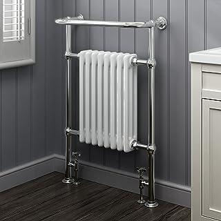 Luxury For Less Ltd, Tradicional Radiador Climatizada Victoriana Chrome Toallero, Blanco
