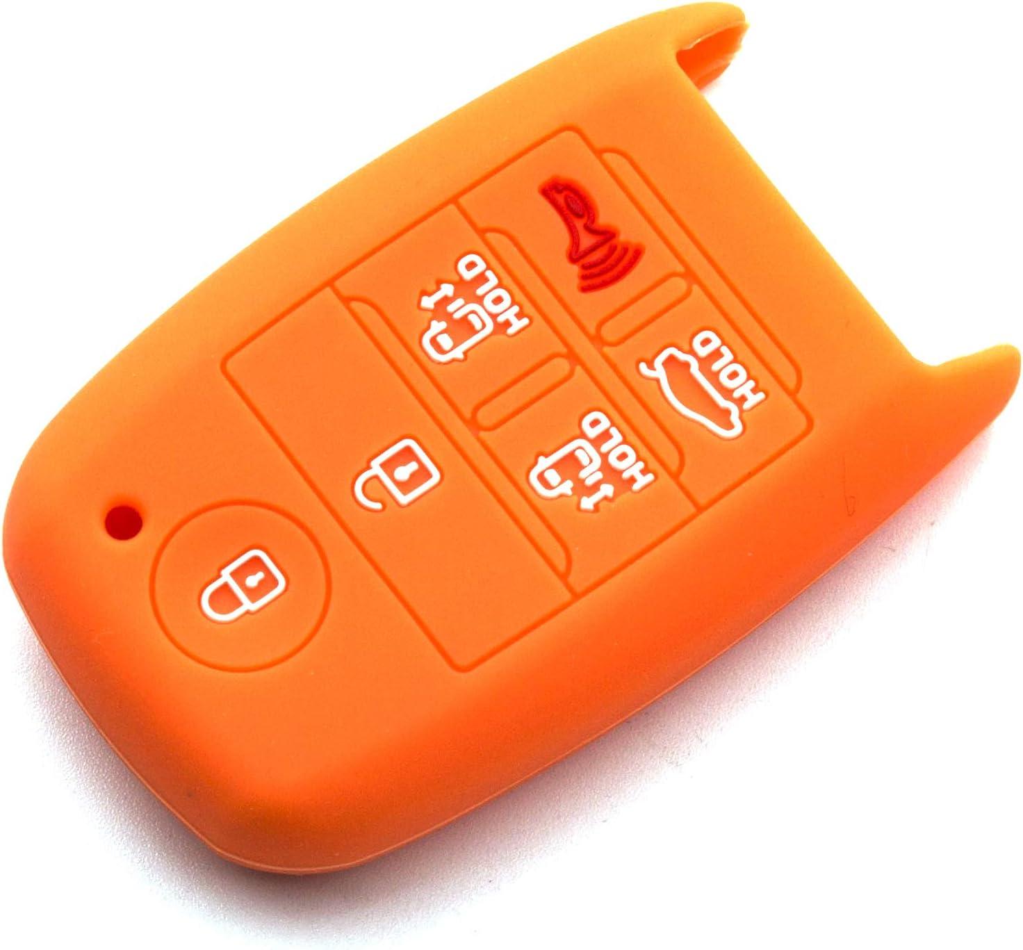 Purple LIGHTKOREA 6 Button Silicone fob Remote Smart Key Case Protector Cover 1Pcs Compatible with Kia Sedona Carnival 2015 2019