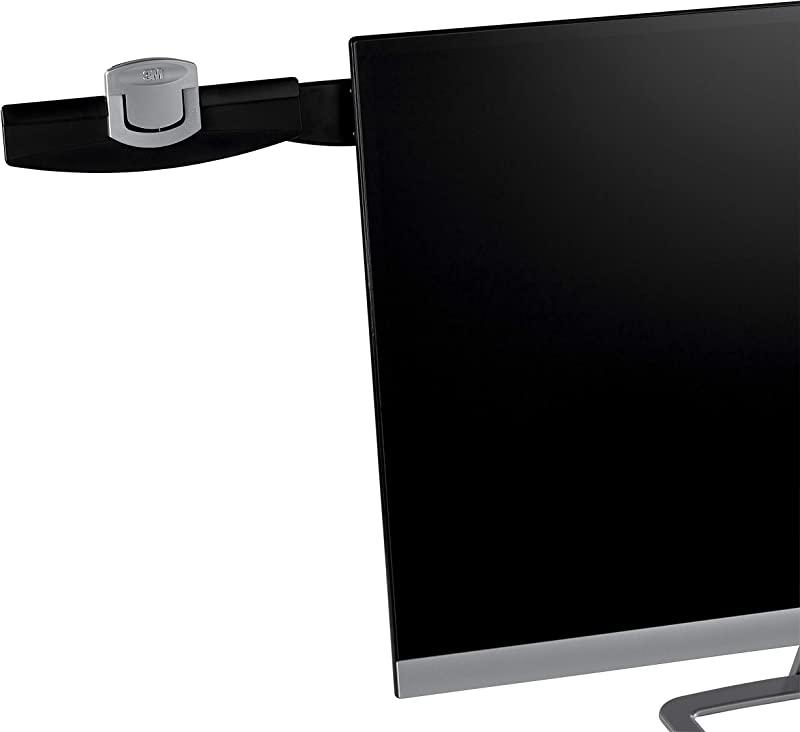 3M Monitor Mount Document Clip Mounts Right Or Left With Command Adhesive Swings Forward And Back For Easy Viewing And Storage 30 Sheet Capacity Black DH240MB