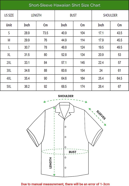 Turtle Hawaiian Shirts for Men - Turtle Button Down Mens Hawaiian Shirts Short Sleeve Series 22