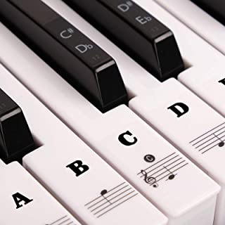 YAASFOS Piano Stickers for Keys, White & Black Piano