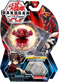 Bakugan, Pyrus Vicerox, 2-inch Tall Collectible Transforming Creature, for Ages 6 and Up