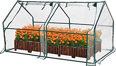 TOOCA Mini Greenhouse for Raised Garden Bed, 71'' X36'' X36'', Portable Plant Greenhouse for Indoor O