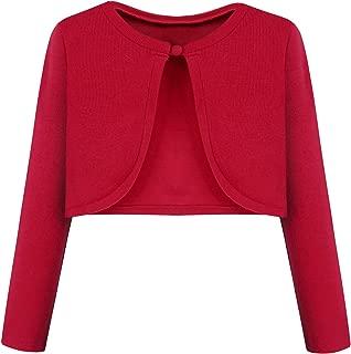 BONNY BILLY Girls' Long Sleeve Knit Bolero Cardigans Jacket Cover Up Sweater