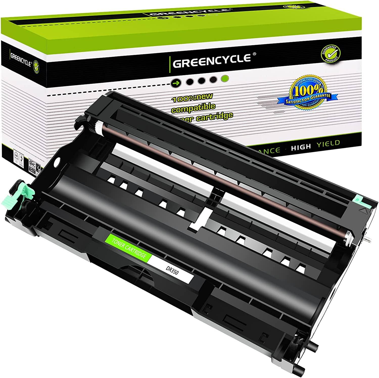 GREENCYCLE 1 Pack Replacement for Brother Black Compatible Drum Unit DR350 DR-350 for use in DCP-7010 DCP-7020 DCP-7025 HL-2030 HL-2040 Intellifax 2820 2850 2920 & MFC-7220 MFC-7420 MFC-7820D Printer