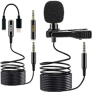Fibe Micro stropdas iPhone met adapter Lightning iOS Apple microfoon DSLR 3,5 mm Omnidirectionele audio condensator kabel ...