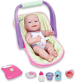 """JC Toys, 14"""" Lots to Love Babies Doll and Car Seat - 4 Multi-position Carrier and Accessories - Posable & Waterproof - Age..."""