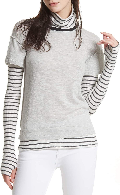 Free People Womens Piper LayeredLook Basic TShirt