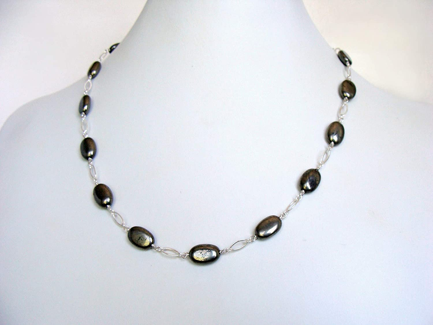 Pyrite necklace pyrite Denver Mall station Ranking TOP5 chain silver sterling inche 19