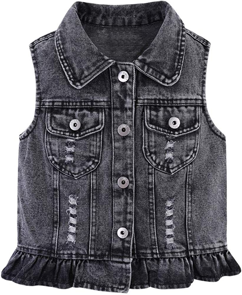 Mud Max 45% OFF Kingdom Girls Sequin Limited time cheap sale Vest Denim Butterfly Button-Down