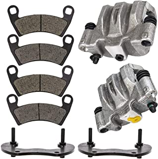 NICHE Rear Left Right Brake Caliper Pad Set For 2014-2019 Polaris Ranger Crew 900 RZR XP 4 1000 1912141 1912142