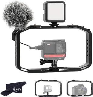 Ulanzi M-Rig Film Making Vlog Cage for Smartphones, GoPros and DSLR Cameras | Full Metal Professional Grade Vlogging Handle Cage for External Microphones & Video Lights