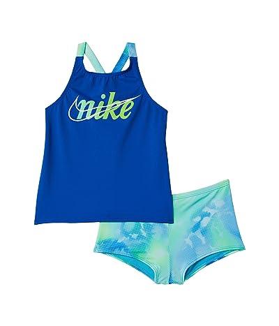 Nike Kids Rainbow Cloud Dye Cross-Back Tankini Set (Little Kids/Big Kids)