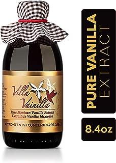 Villa Vainilla pure vanilla extract (8.4 fl.oz.) - Made with Premium, Hand-Picked Vanilla Beans - genuine and Natural Gourmet Flavor from Mexico - Kosher, vegan, GF