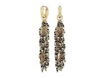 SOLE / SOCIETY Waterfall Earrings (12K Soft Polish Gold/Black) Earring