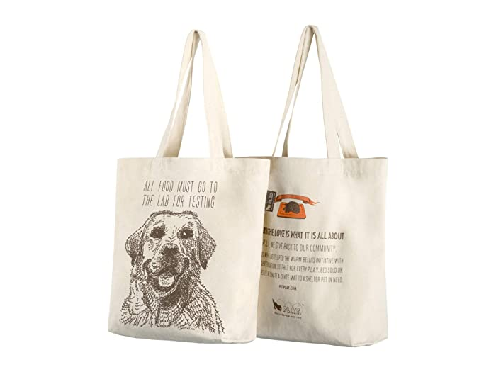 All Food Must Go To The Lab For Testing Tote (Tan) Dog Accessories