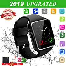 Android Smart Watch for Women Men, 2019 Bluetooth Smartwatch Smart Watches Touchscreen with Camera, Cell Phone Watch with SIM Card Slot Compatible Android Samsung iOS Phones XS 8 10 11 Note Adult