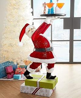 Hengyuan Creative Christmas Snowman Santa Treats Holder, Resin Treats Holder, Cupcake Dessert Snack Bowl Stand for Christm...