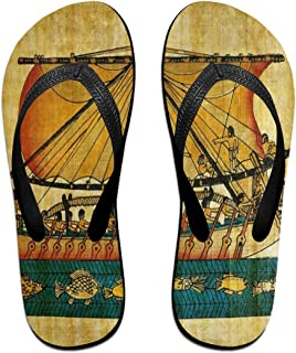Flip Flops Ancient Egyptian Culture Women's Indoor Slippers Thong Sandals for Girls