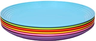 Melange 6-Piece Melamine Salad Plate Set (Solids Collection ) | Shatter-Proof and Chip-Resistant Melamine Salad Plates | Color: Multicolor