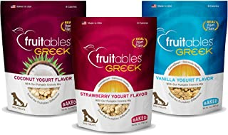 Fruitables Greek Yogurt Dog Treats (Variety 7-Ounce Pouches)