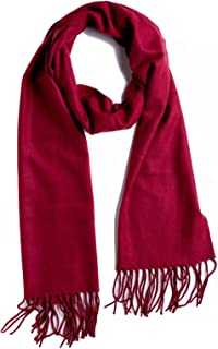 Plum Feathers Rich Solid Colors Cashmere Feel Winter Scarf