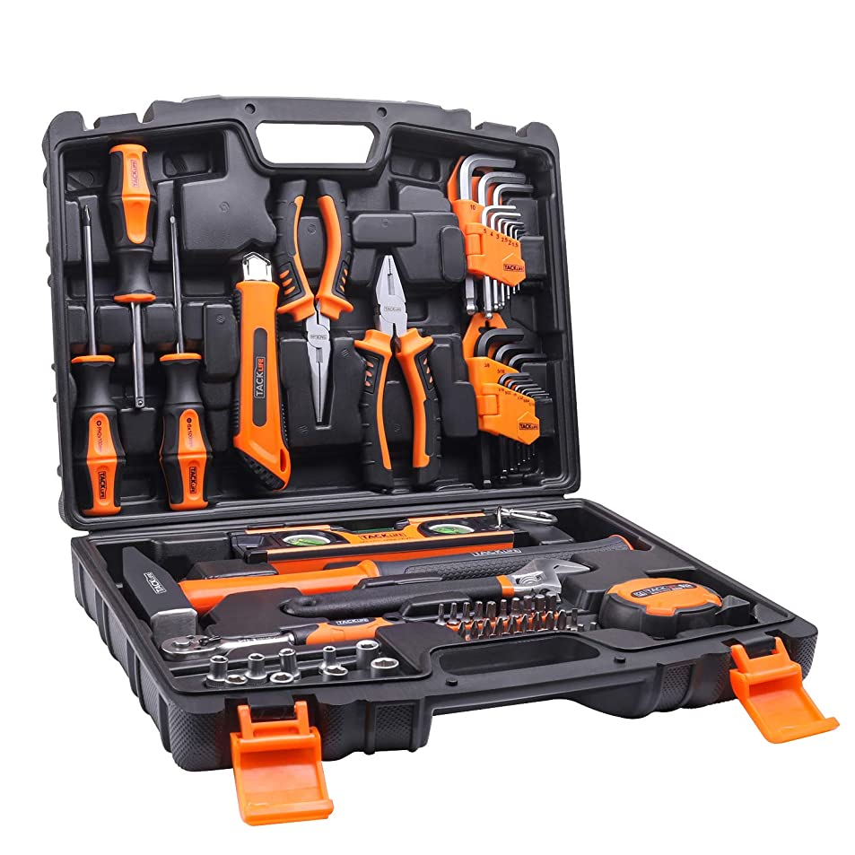 原点着陸ピックTACKLIFE HHK2A 工具セット 68PCS 作業道具セット 家庭修理&作業用 収納ケース付き