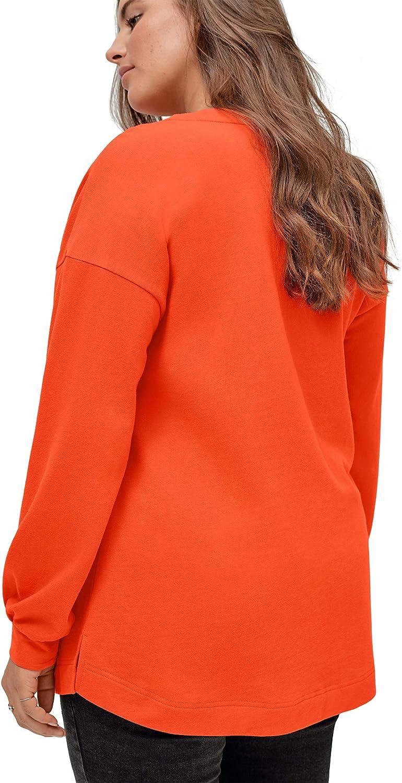 ellos Women's Plus Size Blouson Sleeve Sweatshirt Tunic