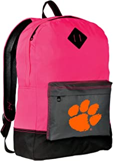 Broad Bay Clemson Tigers Backpack Classic Style Clemson University Backpacks High Visibility Gift for Her Girls Women