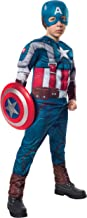 Rubies Marvel Comics Collection: Captain America: The Winter Soldier Deluxe Retro Suit Captain America Costume, Child Large