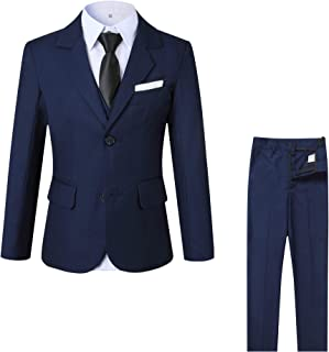 kretenier 5 Piece Formal Boys Suits Set- Slim Fit Dresswear Suit for Boys
