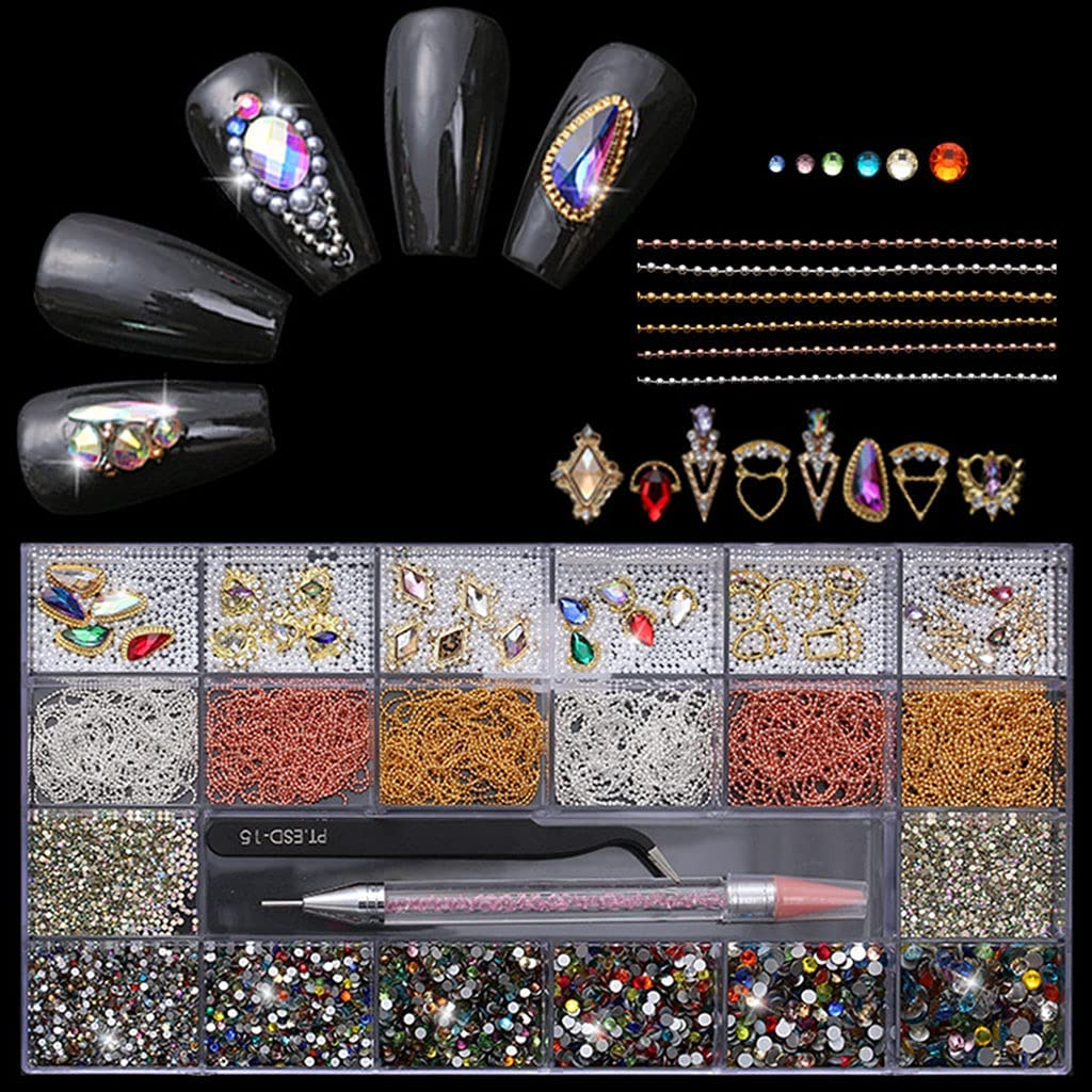 Spasm price Y-YUNLONG 21 Grids price Nail Art Dual-En Multi with Shapes Decoration