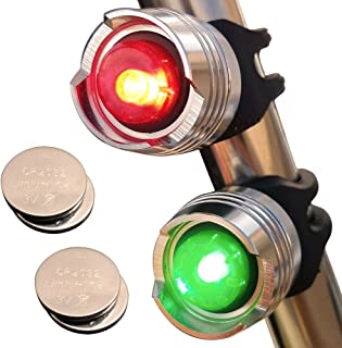 Bright Eyes Green & Red Aluminum Portable Marine LED Boating Lights - Boat Bow or Stern Emergency Backup Safety Lights for Maximum Attention - Waterproof