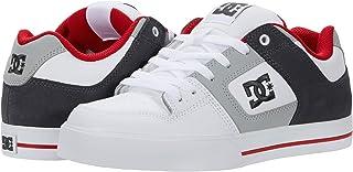 DC Shoes Pure Slim D0301970 - Sneaker da Uomo, (Bianco, Grigio, Rosso.), 53 EU