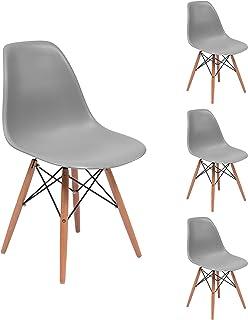 Homely - Juego de 4 Sillas de Comedor o Cocina MAX de diseño nórdico-Scandi, Inspiración Silla Tower - Gris Medio 30