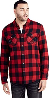 Men's Long Sleeve Flannel Utility Shirt w/Thermal Lining in Red Road