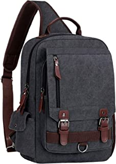 Sling Bag for Men Women Sling Backpack Laptop Shoulder Bag Cross Body Messenger Bag Fit 13.3