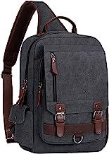 WOWBOX Sling Bag for Men Women Sling Backpack Laptop Shoulder Bag Cross Body Messenger Bag 13.3