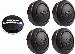 BMF Wheels Center Caps Flat Black Shorty- Fits All 8 Lug (4 CAPS) + 1 Set Sticker Logos