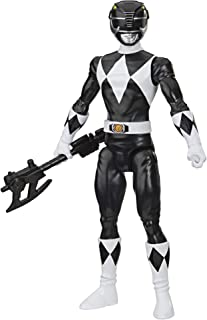 Power Rangers Mighty Morphin Black Ranger 12-Inch Action Figure Toy Inspired by Classic TV Show, with Power Axe Accessory
