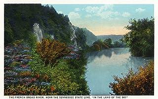 Blue Ridge Mountains, North Carolina - French Broad River Scene (9x12 Art Print, Wall Decor Travel Poster)