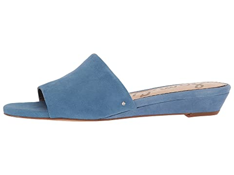 Sam Edelman Liliana Denim Blue Kid Suede Leather Clearance The Cheapest Q3zTyFjmk