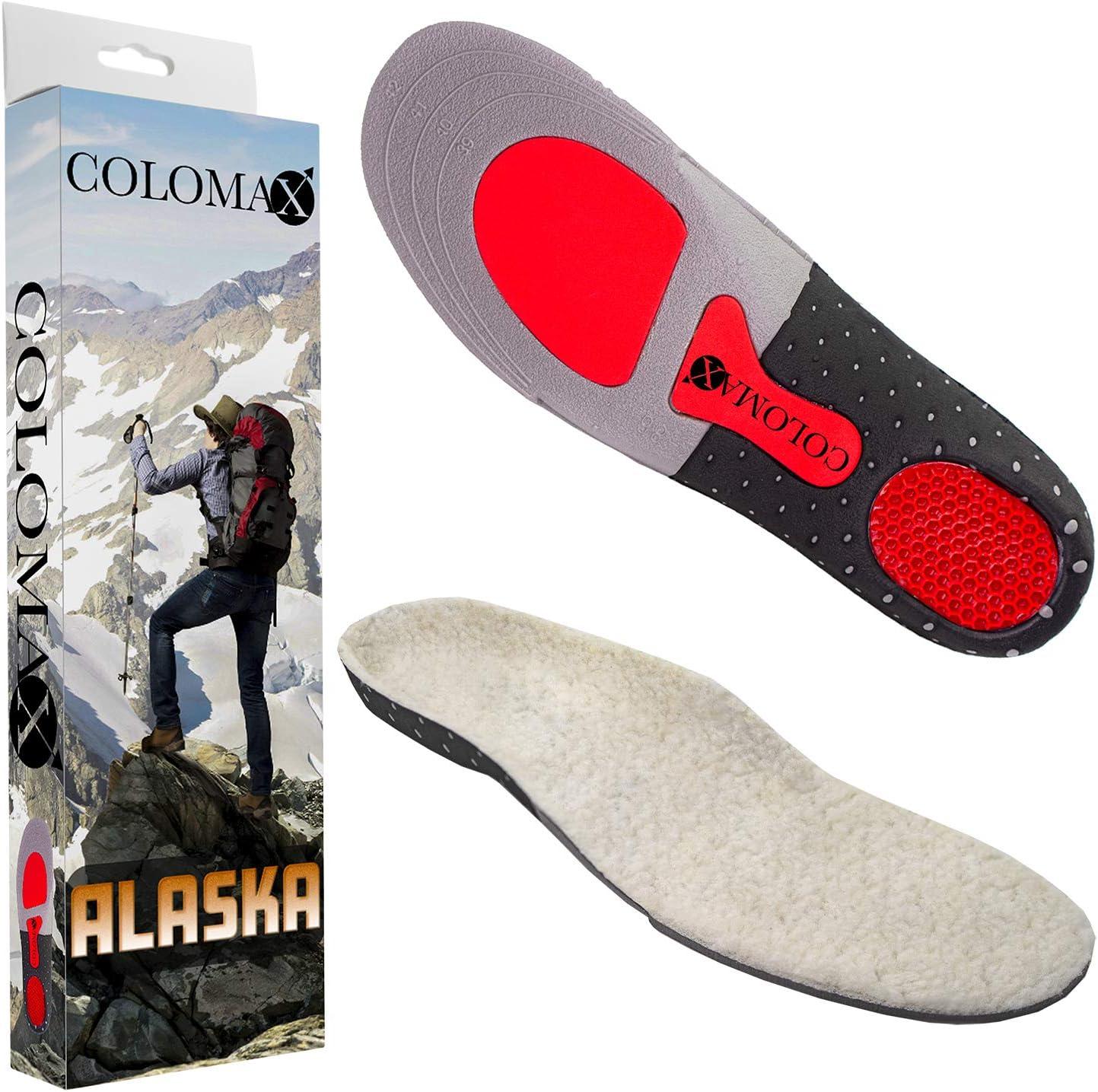 COLOMAX Alaska - Plantillas ortopédicas de invierno cálidas, color blanco o gris, color Blanco, talla 35 -38